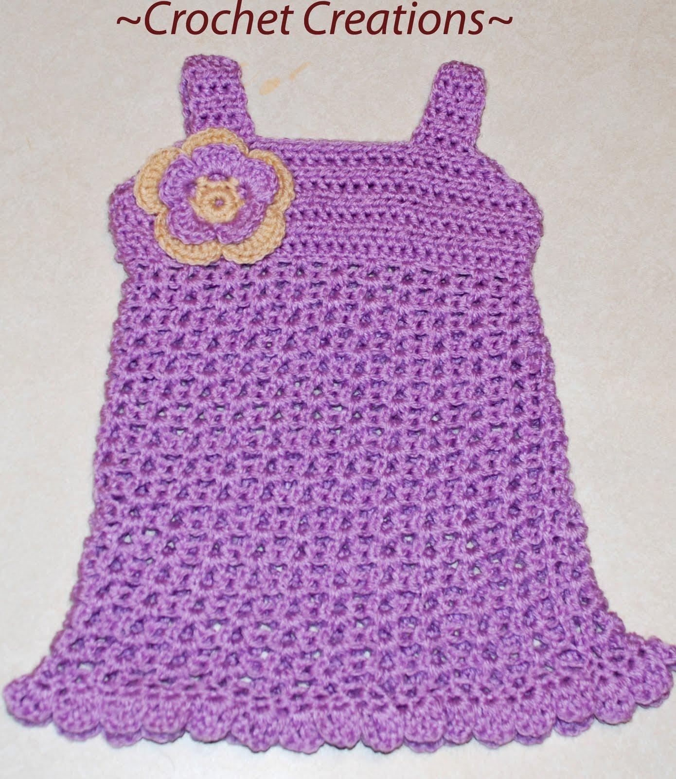 Crochet Patterns Toddler Dress : Crochet pattern baby to toddler dress (Crochet dress): Luz Mendoza