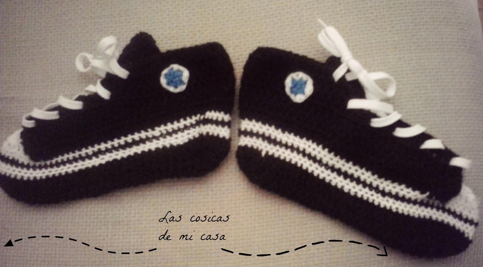 Famoso Patrón De Crochet Para Zapatillas Para Adultos Ornamento ...