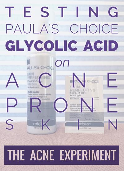 Paula's Choice Glycolic Acid Review :: The Acne Experiment