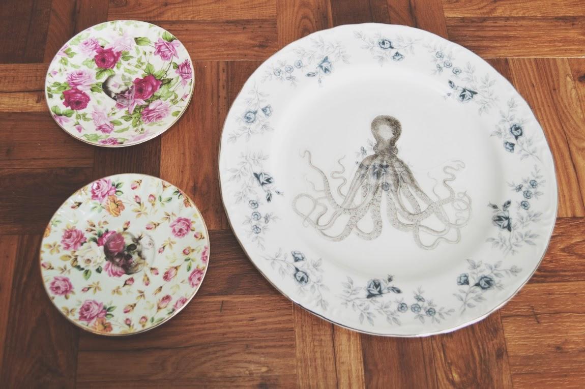 Как сделать на тарелках