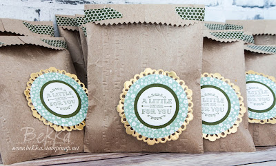 A Little Something Woodland Treat Bags made with Stampin' Up! UK products