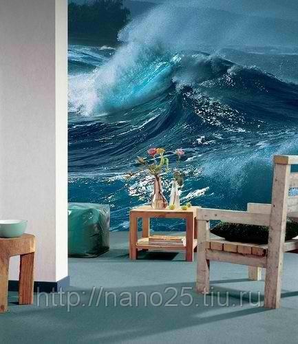 фотообои море в интерьере: