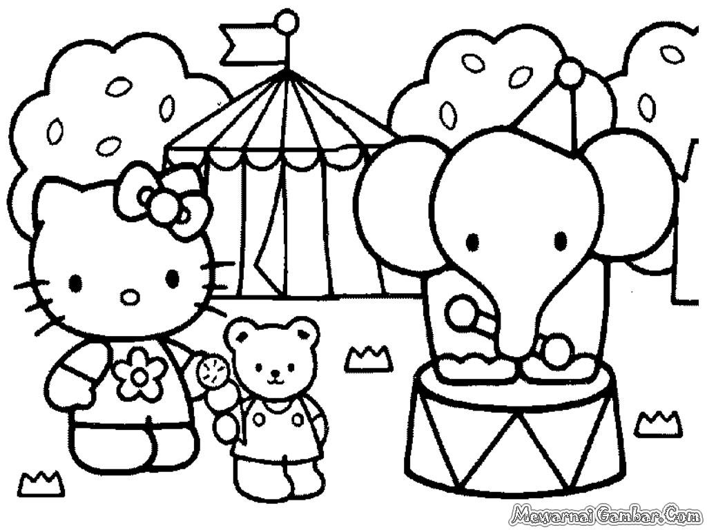 Download seluruh gambar mewarnai Hello Kitty pada halaman ini dalam ...