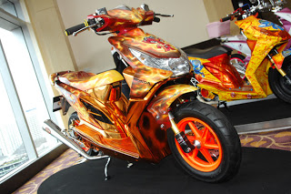 Modifikasi Motor Honda Beat Air Brush