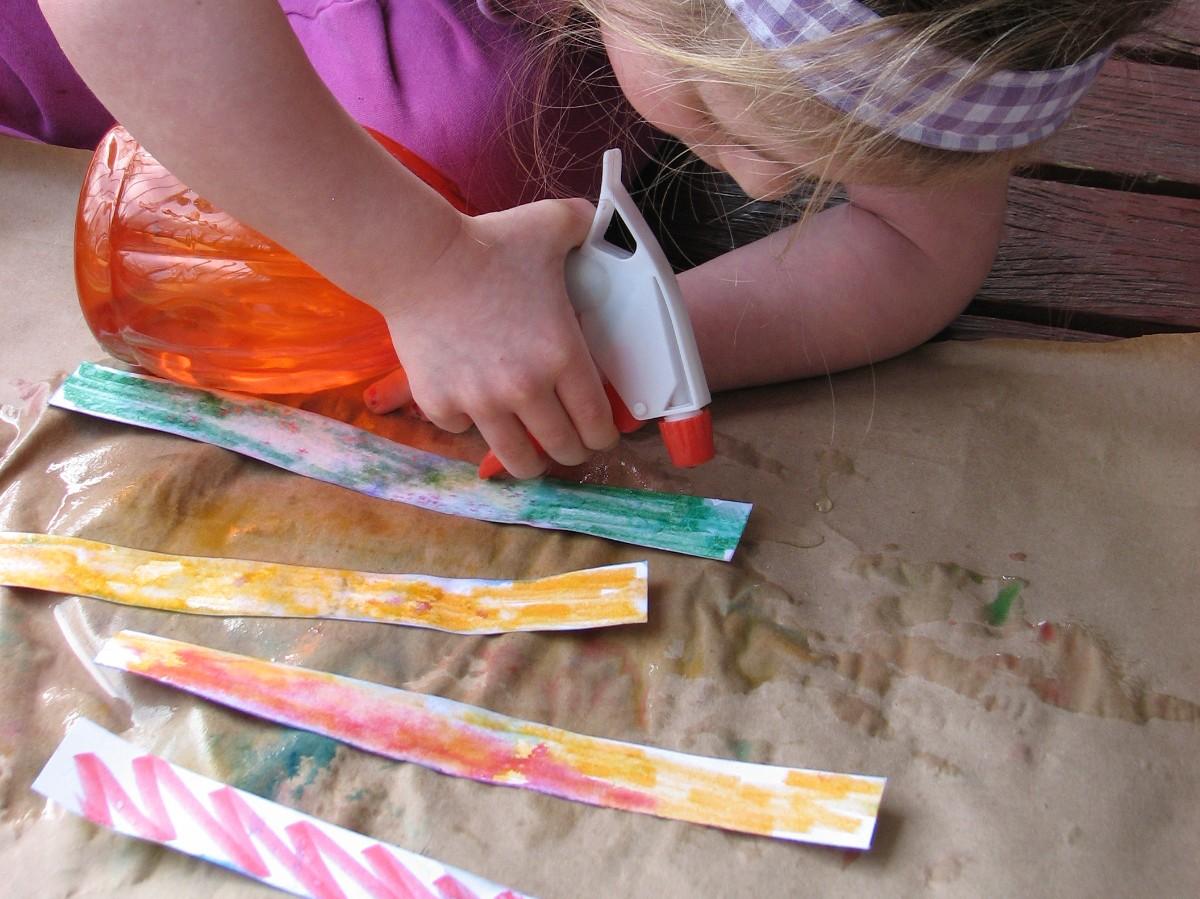The Polka-Dot Umbrella: Paper Flower Crafts for Kids