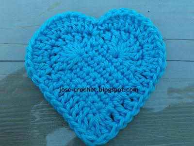 Jos crochet free crochet pattern heart free crochet pattern heart en rosa espanl dt1010fo