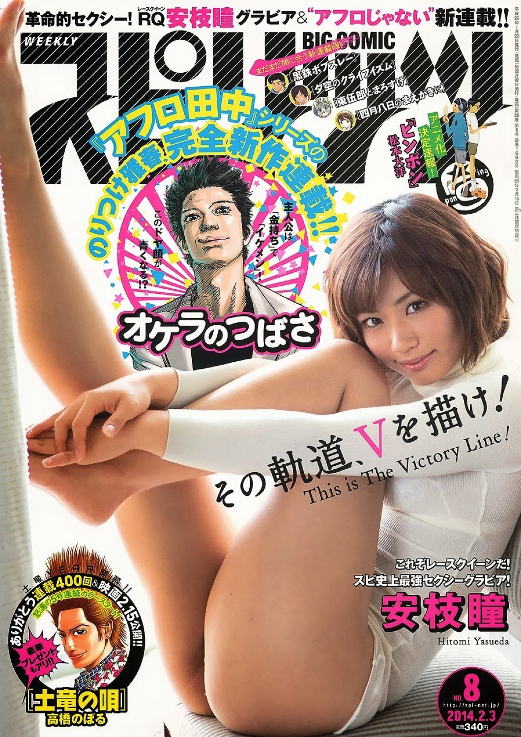 Yasueda Hitomi 安枝瞳 Big Comic Spirits Feb 2014 cover