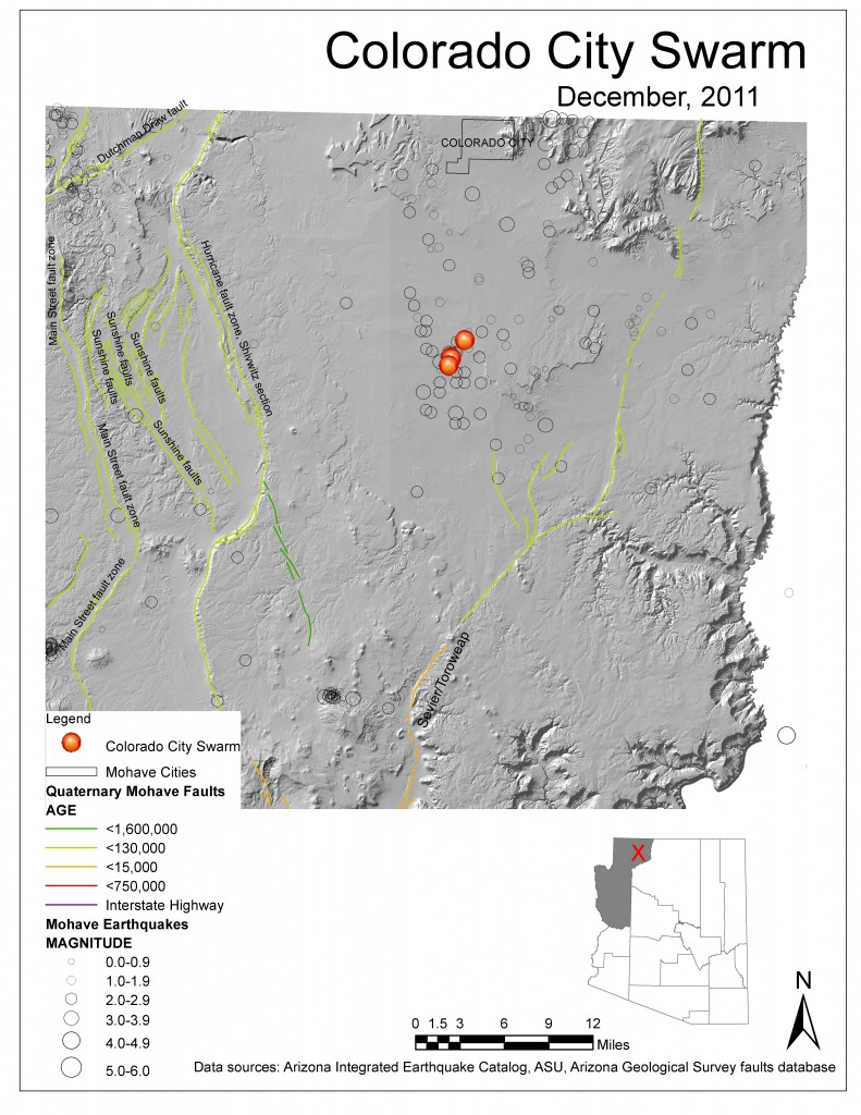Colorado City Utah Map.Arizona Geology Putting The Colorado City Quakes In Context