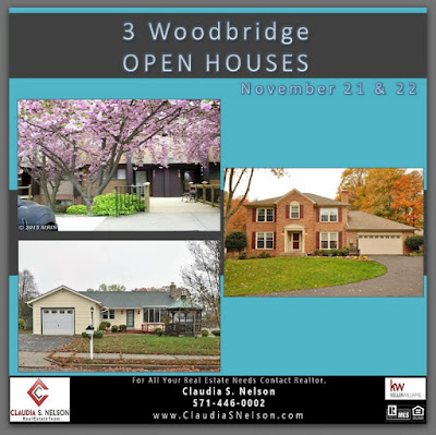 3 Woodbridge Open Houses Nov 21 and Nov 22