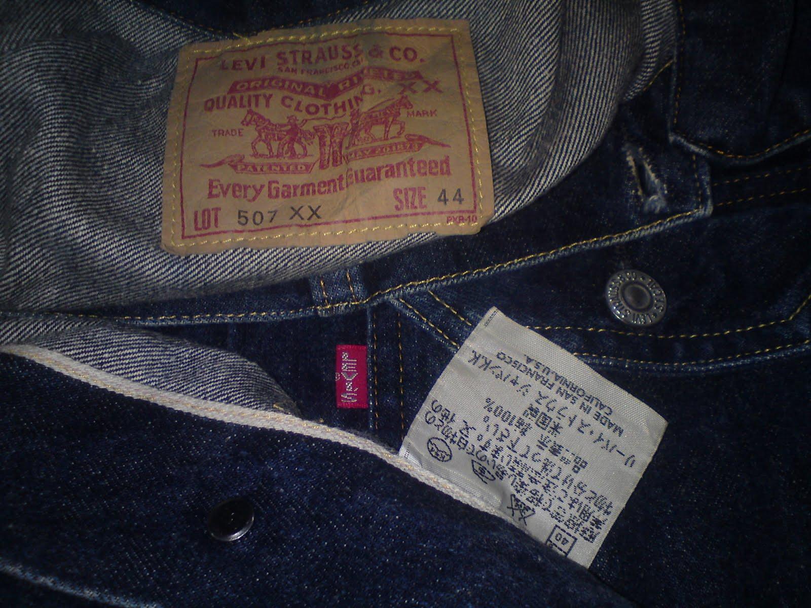 BEGINNER DIVER: authentic USA levi\'s big E selvedge jeans jacket.
