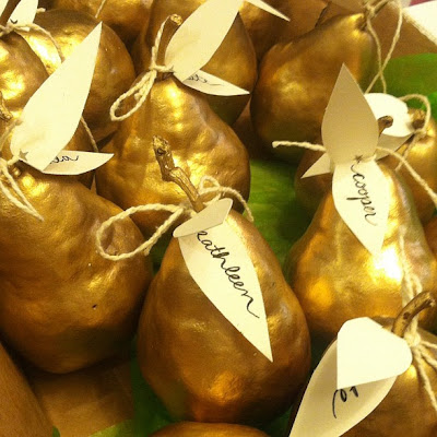 pear placecard holders