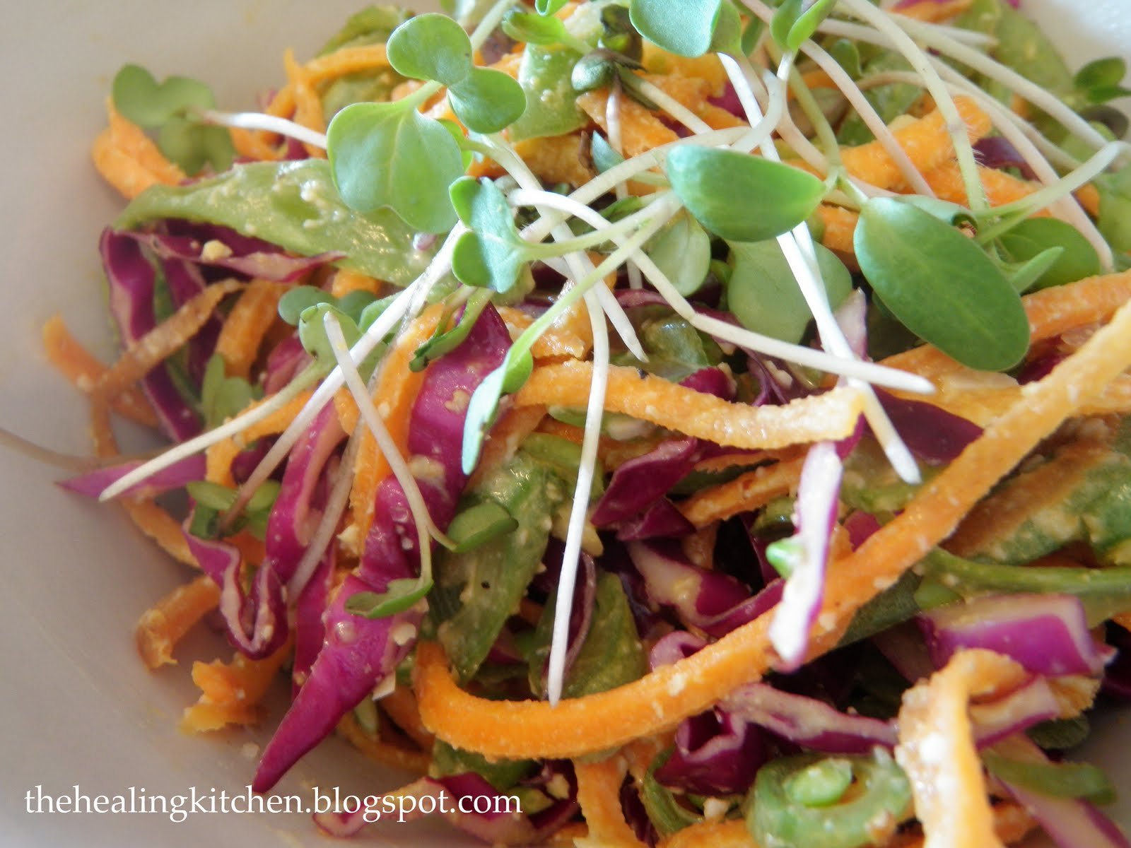The Healing Kitchen: Green Bean Cole Slaw
