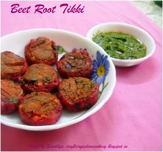 recipe of beetroot and potato tikki, indian snack