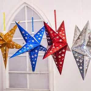 estrellas brillantes para decorar fiesta de cumpleaños, como hacer estrellas para cumpleaños