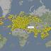 شاهد حركة الطائرات عبر العالم بالوقت الحقيقي