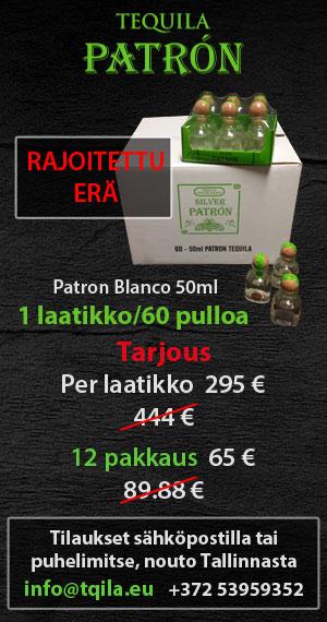 Tequila PATRON - nyt edullisesti!