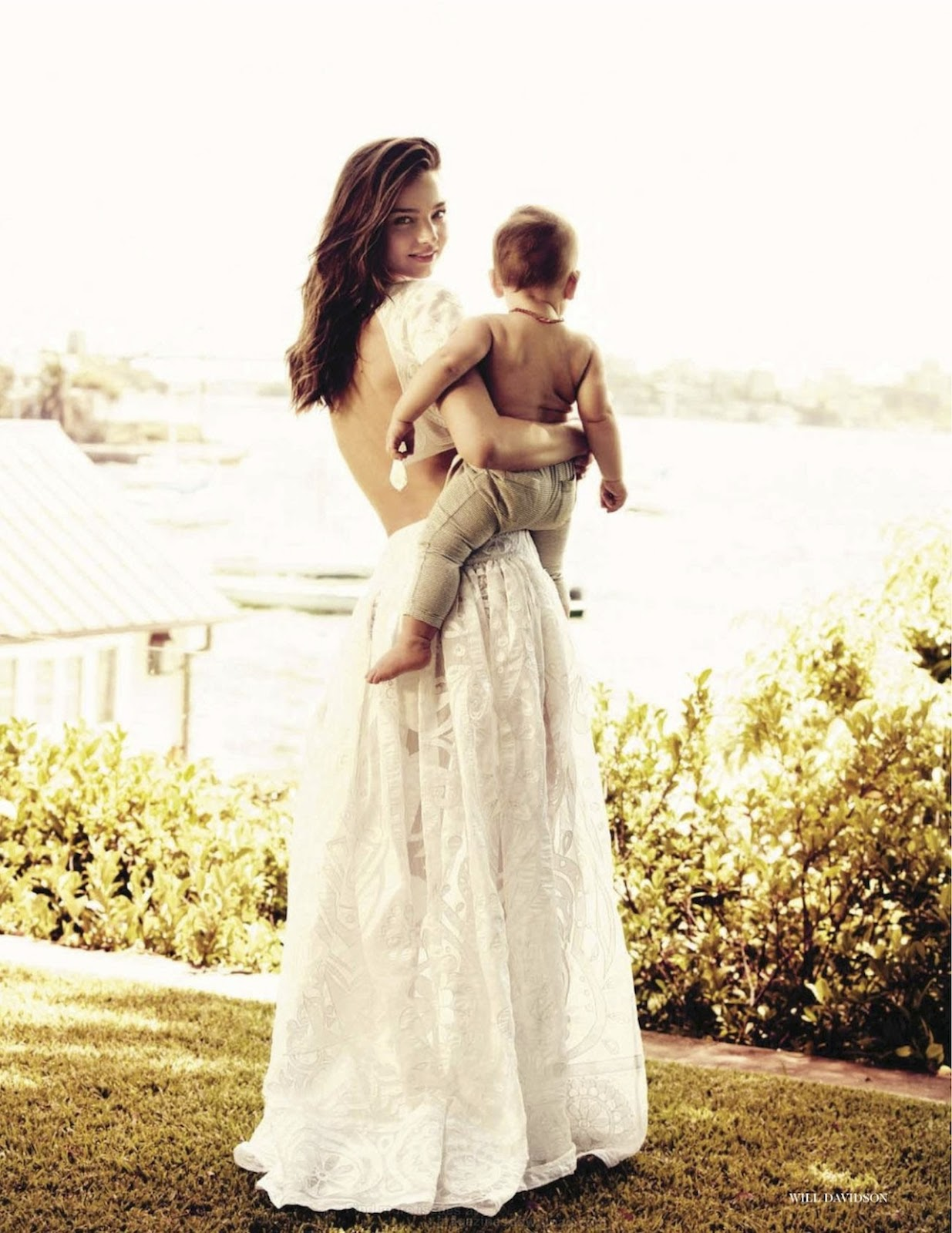 Miranda Kerr with Flynn in Vogue UK July 2012 (photography: Will Davidson) via fashioned by love  british fashion blog