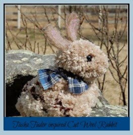 Tasha Tudor inspired cut wool rabbit tutorial