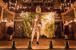 Iestyn Davies in Farinelli and the King at the Sam Wanamaker Playhouse, photo credit Mark Brenner