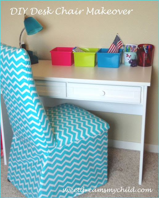 Chevron Desk Chair Makeover