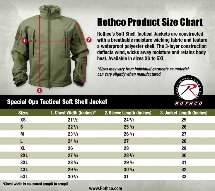 Rothco s camobloge rothco s new size charts