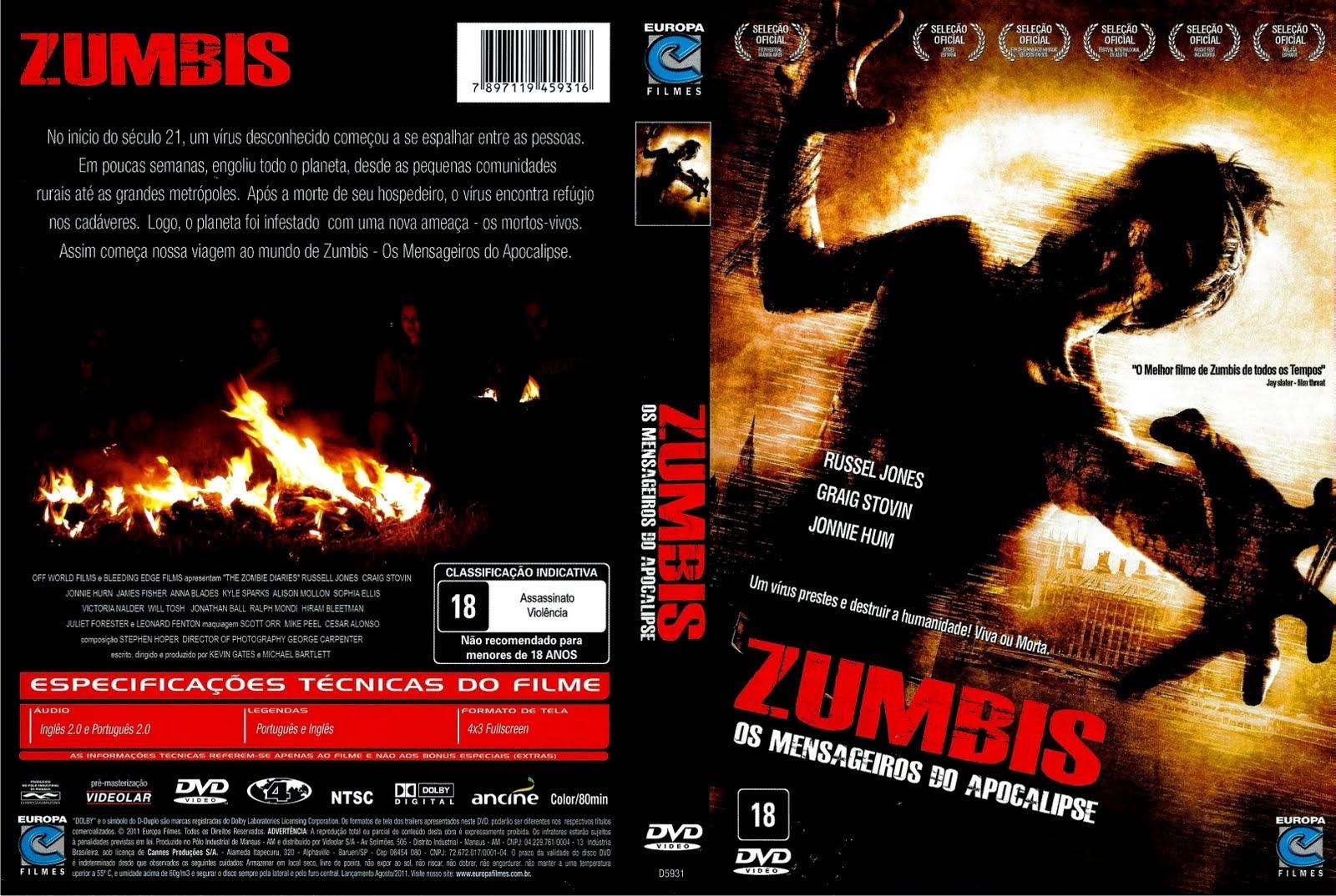 Filme Zumbis - Os Mensageiros do Apocalipse DVD Capa