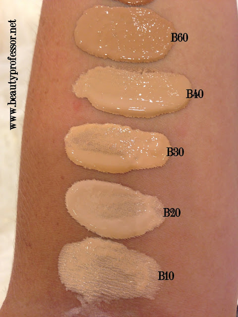 YSL Youth Liberator foundation swatches