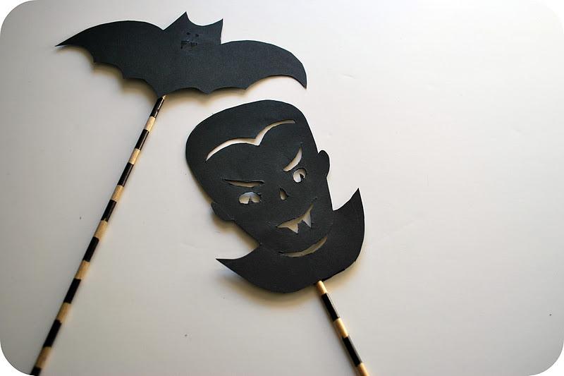 Chez Beeper Bebe: Make This: Halloween Shadow Puppets