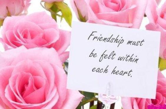 Friendship day messages cards with pink rose happy friendship day lovely and beautiful pink rose gifts for best friends on friendship day m4hsunfo