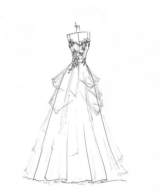 Wedding Gown Design Sketch 2
