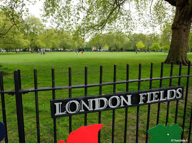Parc London Fields east Dalston Londres