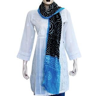 Indian Tie Dye Print Scarf