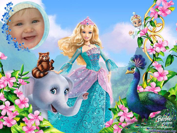 Fotomontajes Infantiles - Barbie Princesa