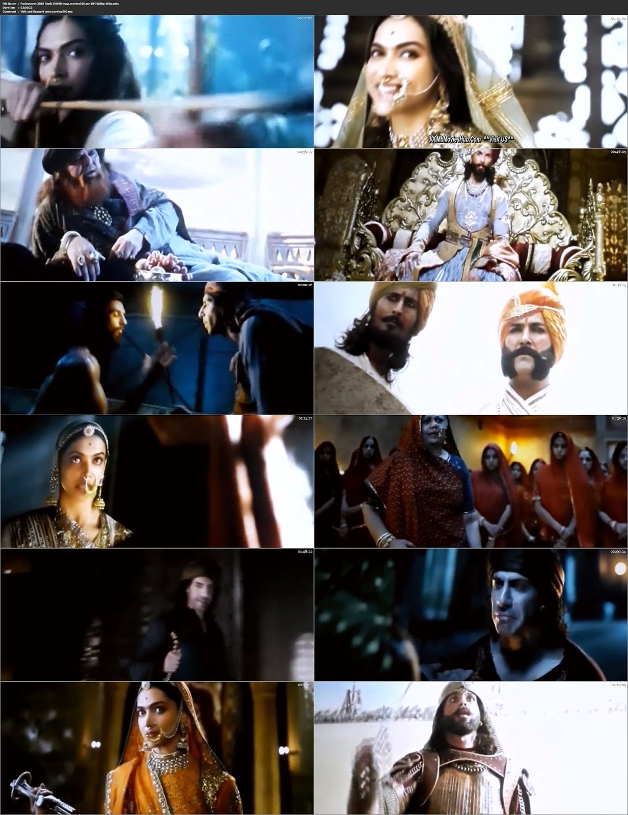 Padmaavati 2018 Bollywood 300MB Full Movie PDVDRip 480p at xn--o9jyb9aa09c103qnhe3m5i.com