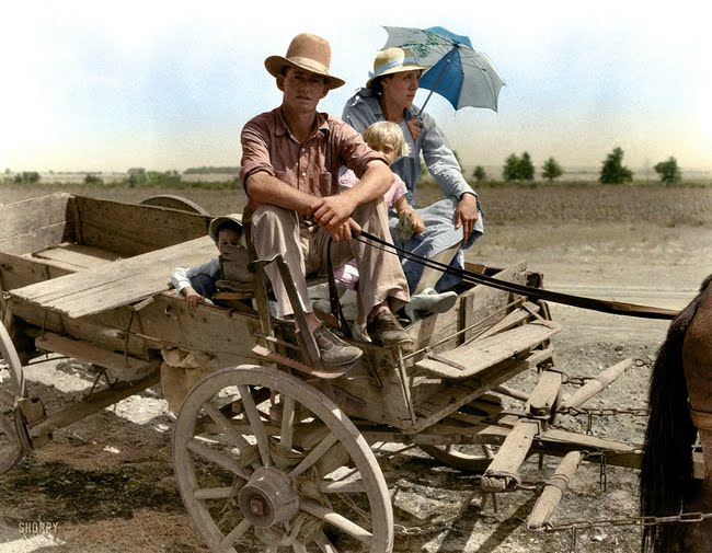 An Oklahoman farmer during the great dust bowl in 1939.