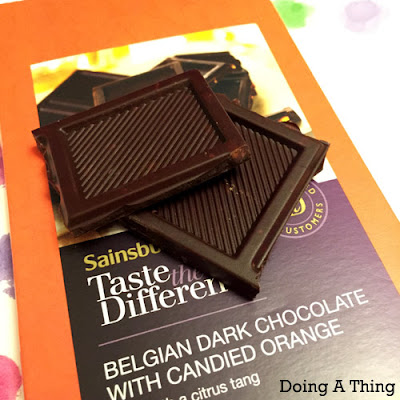 Taste the Difference Belgian Dark Chocolate with Candied Orange