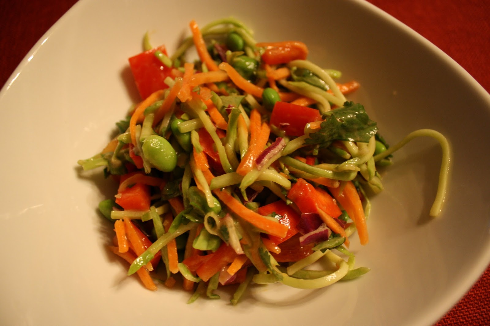 Lactose-Free Girl: Asian Slaw with Ginger-Peanut Dressing