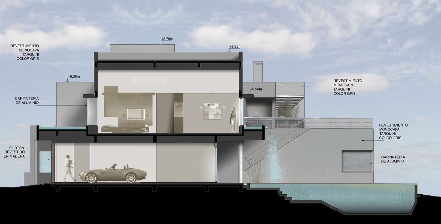 Architectural Drawings Of Modern Houses incredible modern waterfall houseandres remy architects
