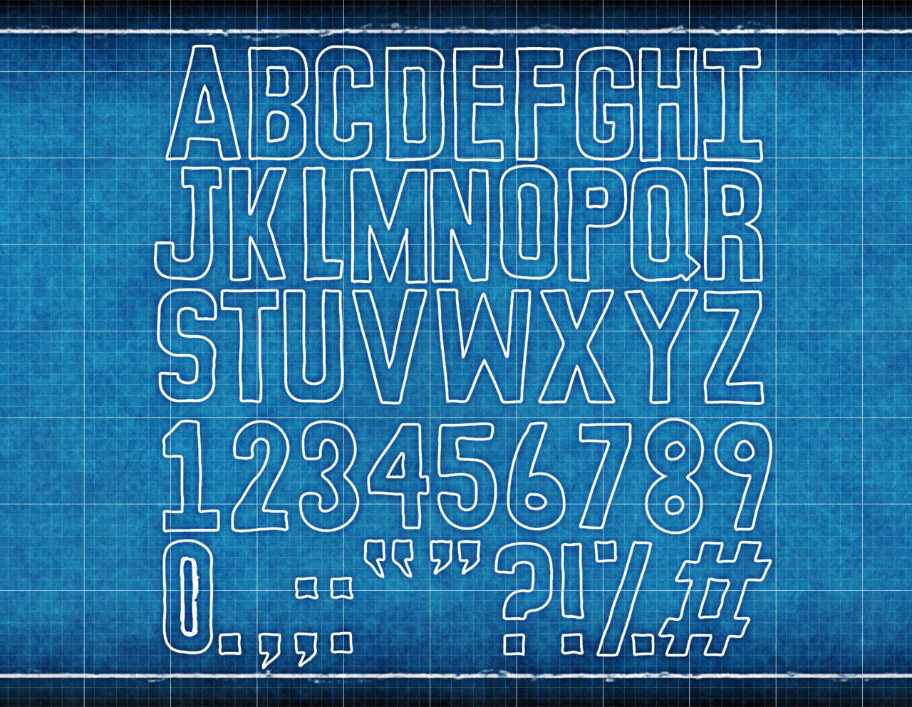 Blueprint font design jess paroz blueprint font design to download the font go to sedj on deviantart malvernweather Choice Image
