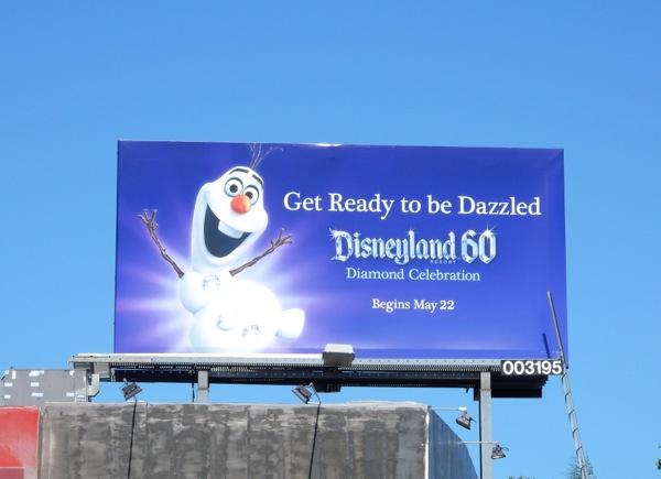 Disneyland 60 Snowman Olaf billboard