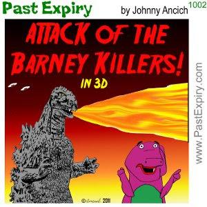 [CARTOON] B Movie Poster. cartoon, advertising, animals, dinosaur, entertainment, movie, prehistoric,