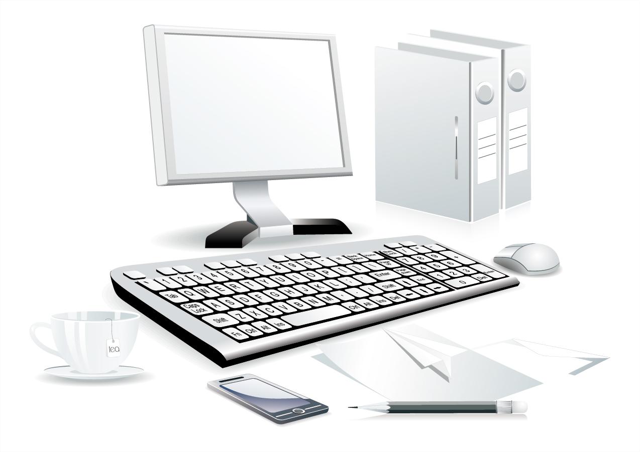 free vector がらくた素材庫: パソコン周りのクリップアート computer