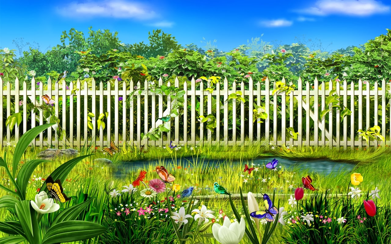 Cartoon garden stock photos free wallpapers for Wallpaper home cartoon
