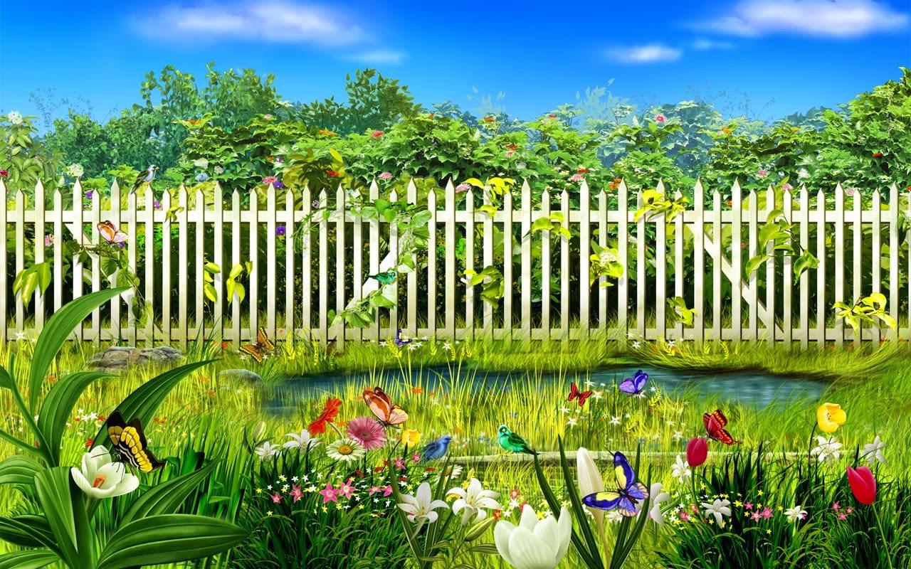 Cartoon garden stock photos free wallpapers for Wallpaper home garden