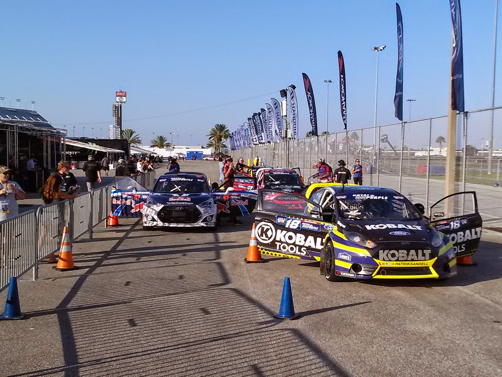 Staging before RedBullGRC Daytona heat race