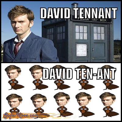 david tennant dr. who pun meme sofa-knee