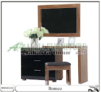 Meja rias model modern minimalis Borneo