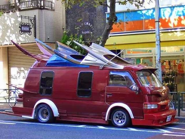 Modifikasi Mobil VW Minibus Unik