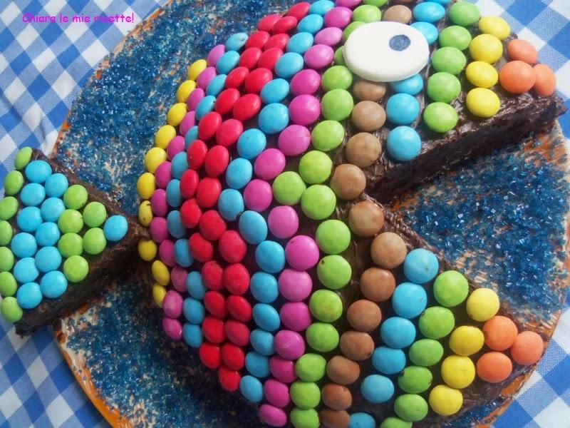 torta pesce per il compleanno di andrea