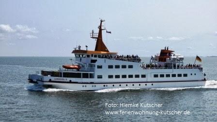 Tagestour von den Ferienwohnungen Kutscher aus zur Nordseeinsel Langeoog